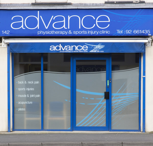 advance Physiotherapy Lisburn shop front